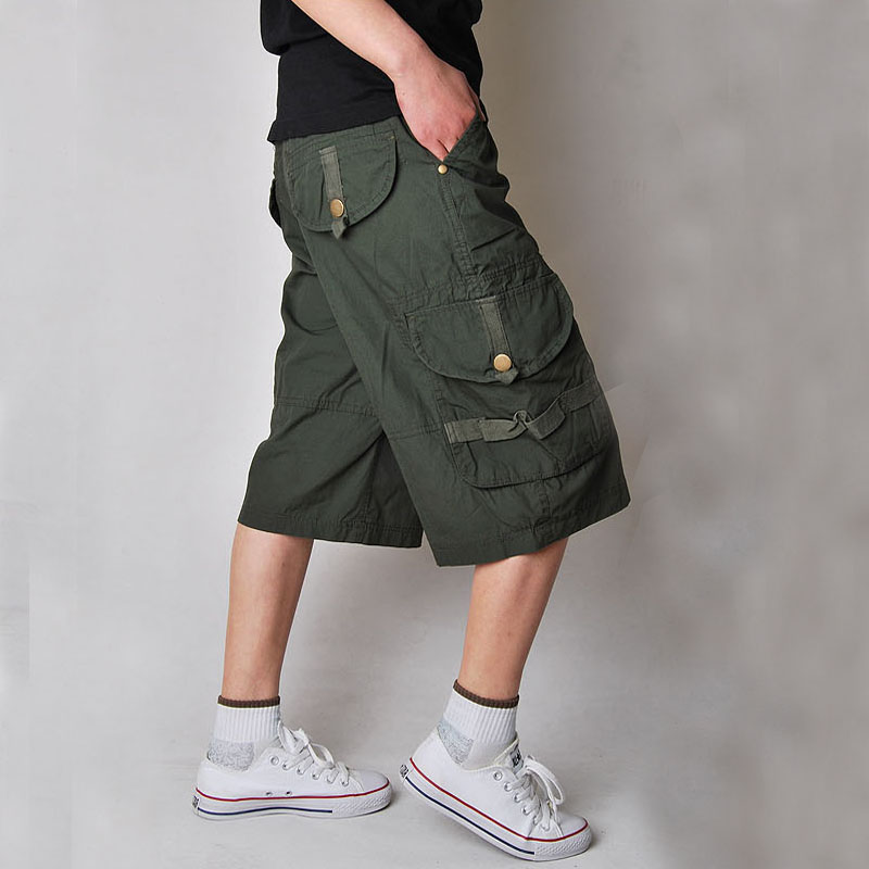 New Cool Mens Summer Cotton Army Casual Trousers Camo Combat Cargo Work Shorts Men Clothing Men Shorts
