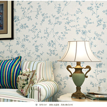 Blue and White Flowers Pastoral Background Wallpaper Decor bedroom papel de parede floral para sala atacado