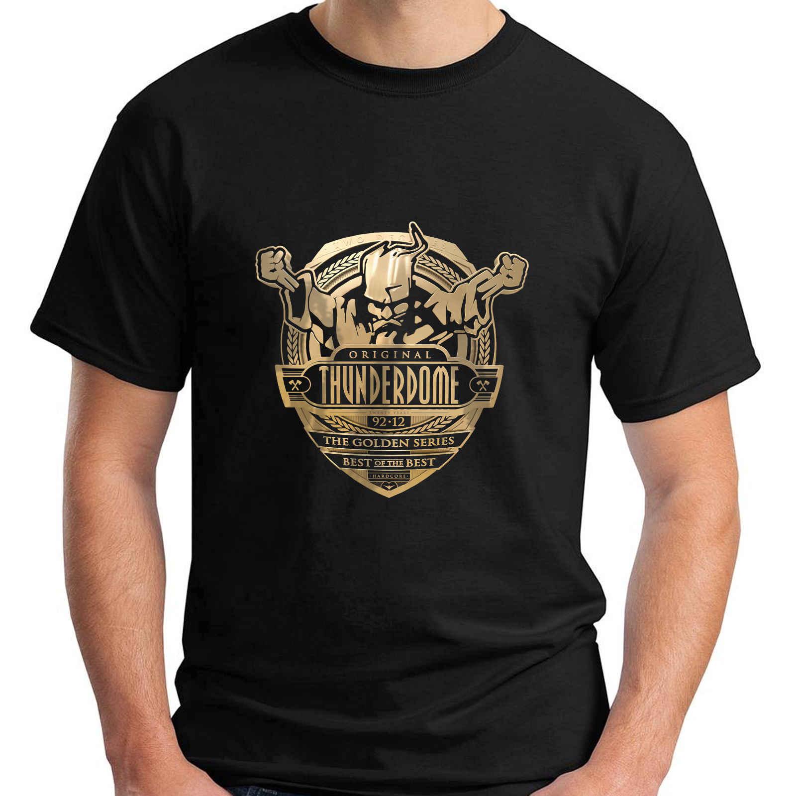 Nowy Thunderdome ID & T Hardcore Techno i Gabber męska czarna koszulka rozmiar S-3XL