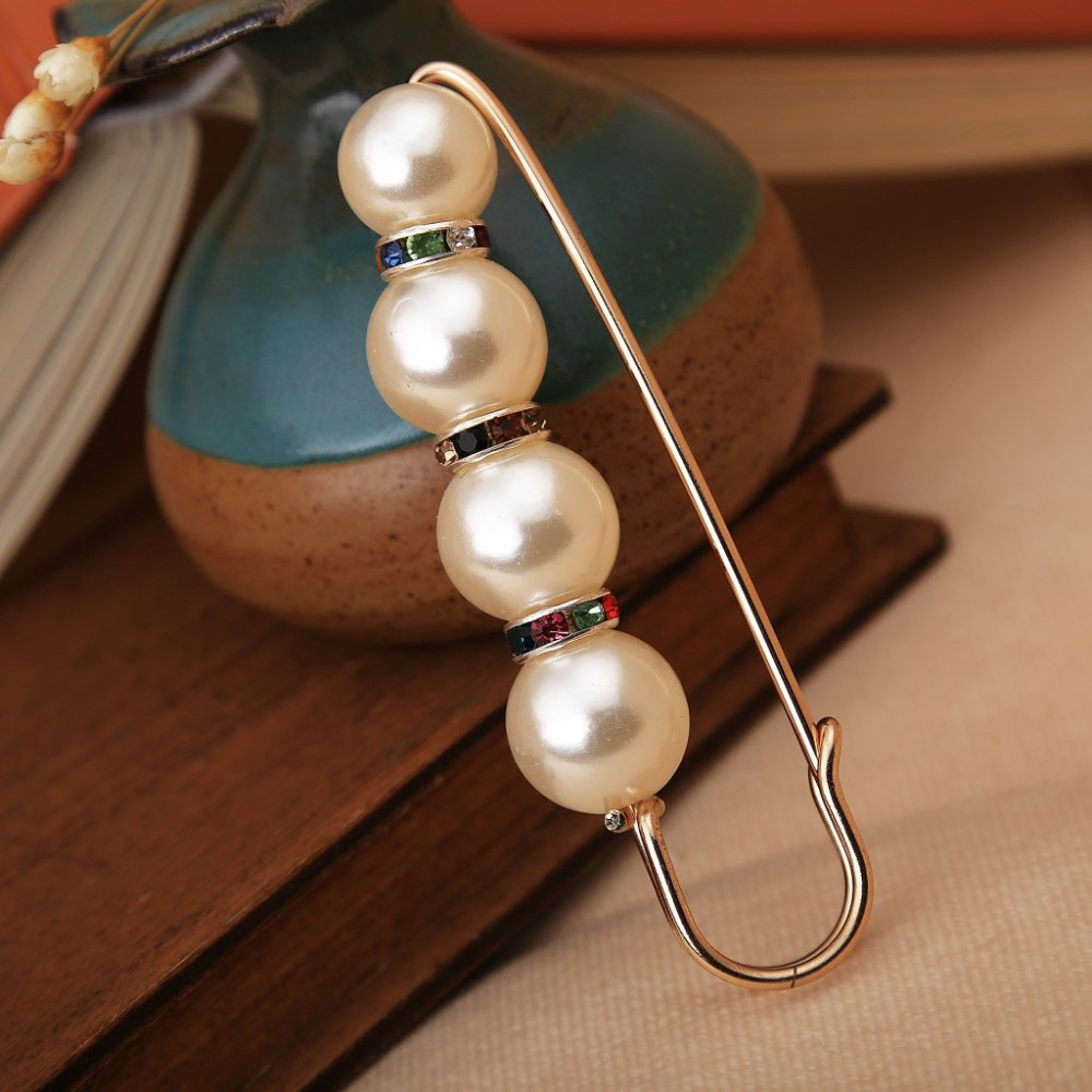 Big Beads 8 Chakra OneckOha Simulated Pearl Brooch Pin Dress Rhinestone Decoration Buckle Pin Jewelry Brooches For Men Women 4