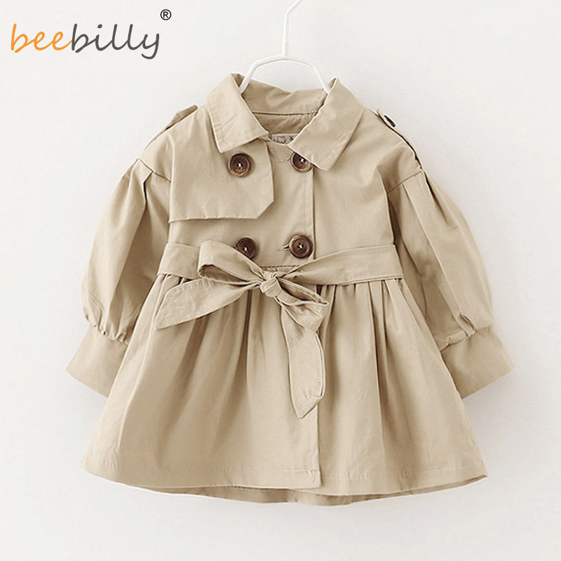Girls Trench Coat 2017 New Children Coat Kids Blazer Cotton Outerwear Baby Jackets Teenage Girls Clothing Autumn Fashion Outwear