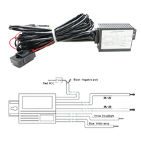 1Pcs DRL Controller Auto Car LED Daytime Running Light Drl Relay Harness Dimmer On Off 12