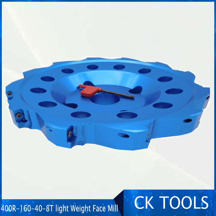 400R right angle milling cutter plate aluminum alloy face mill cutter 160mm ultra light body 400r 160 40 8t
