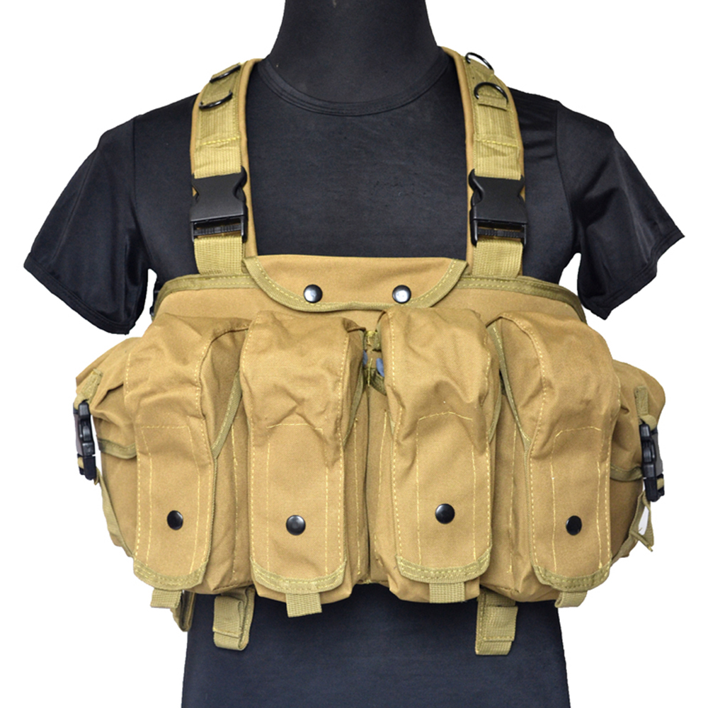 Military Training Airsoft Vest Tactical Chest Rig Load Bearing Equipment AK Rifle Mag Ammo Carrier Hunting Gear