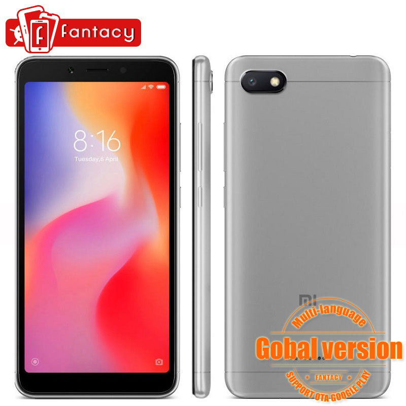 Global Version Xiaomi Redmi 6A 6 A 2GB 16GB 5.45″ 18:9 Full Screen Quad Core 13MP 3000mAh Cellphone MIUI 9.0 B4 B20 CE FCC OTA