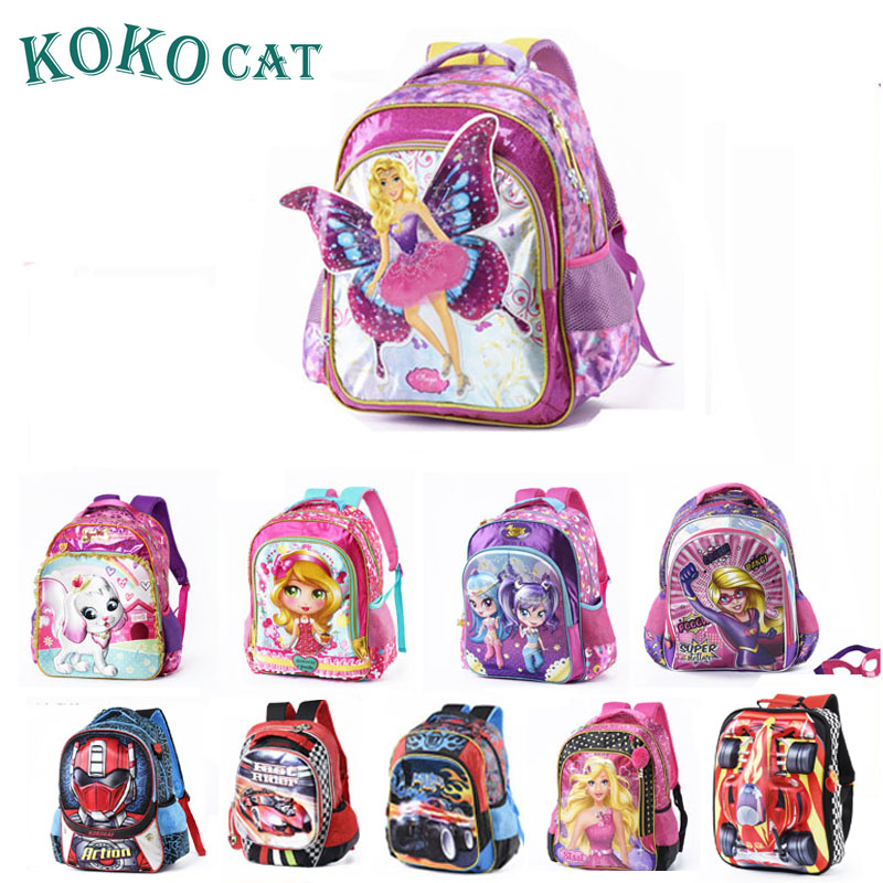 Kokocat Children School Bags For Girls Backpack Kids Printing Backpacks Set Schoolbag Kids Waterproof Primary School Backpacks