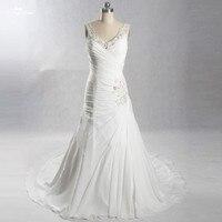 LZ243 Бисер Pleat рукавов Свадебные платья Vestido De Noiva Низкая цена Высокое качество Свадебное платье