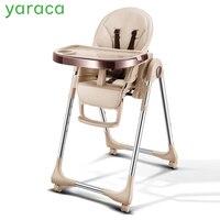 Портативный стульчик для ребенка складной детские стульчики для кормления для Feedding Регулируемый сиденье для обеденного стола с четырьмя к