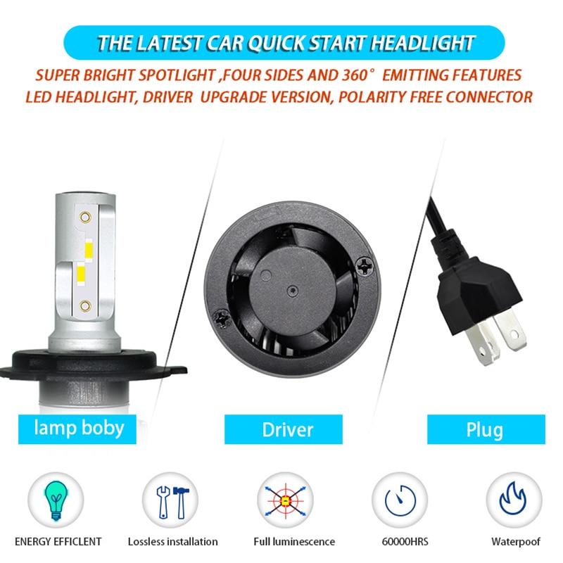Image 5 - Car Headlight Bulb H4 H7 LED H11 H1 H3 9005 9006 HB4 H13 9004 9007 880 881 H27 Led Auto Lamp Araba Light 12V 24V 12000LM 6000K-in Car Headlight Bulbs(LED) from Automobiles & Motorcycles