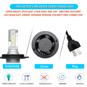 Image 5 - Car Headlight Bulb H4 LED H1 H3 9005 9006 HB4 H13 9004 9007 880 881 H27 Led Auto Lamp Light 12V Lampada H7 24V H11 12000LM 6000K