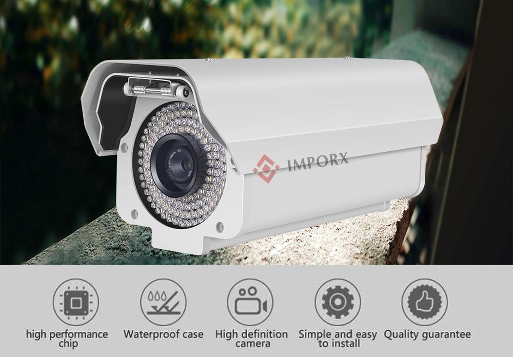 Câmera LPR ANPR NPR Número de Licença Do Carro IP CCTV Segurança Vigilância Vídeo 2 MP para porta de Entrada de Saída de Estacionamento Lotes