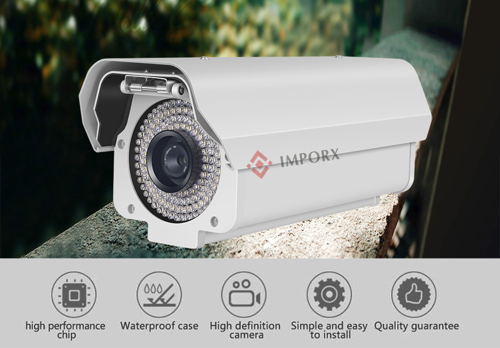 LPR Camera ANPR NPR IP Car License Number CCTV Video Surveillance Security 2 MP for Exit Entrance Gateway Parking Lots