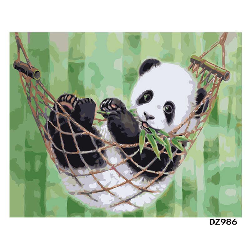 Panda China Tier DIY Digitale Malerei Durch Zahlen Moderne Wand Kunst Leinwand Malerei Geschenk für kinder Home Decor 40x50cm