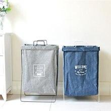 Большая корзина для белья Водонепроницаемый корзина для хранения Ванная комната дома Организатор Прачечная сумки грязный для хранения одежды, мешки полки