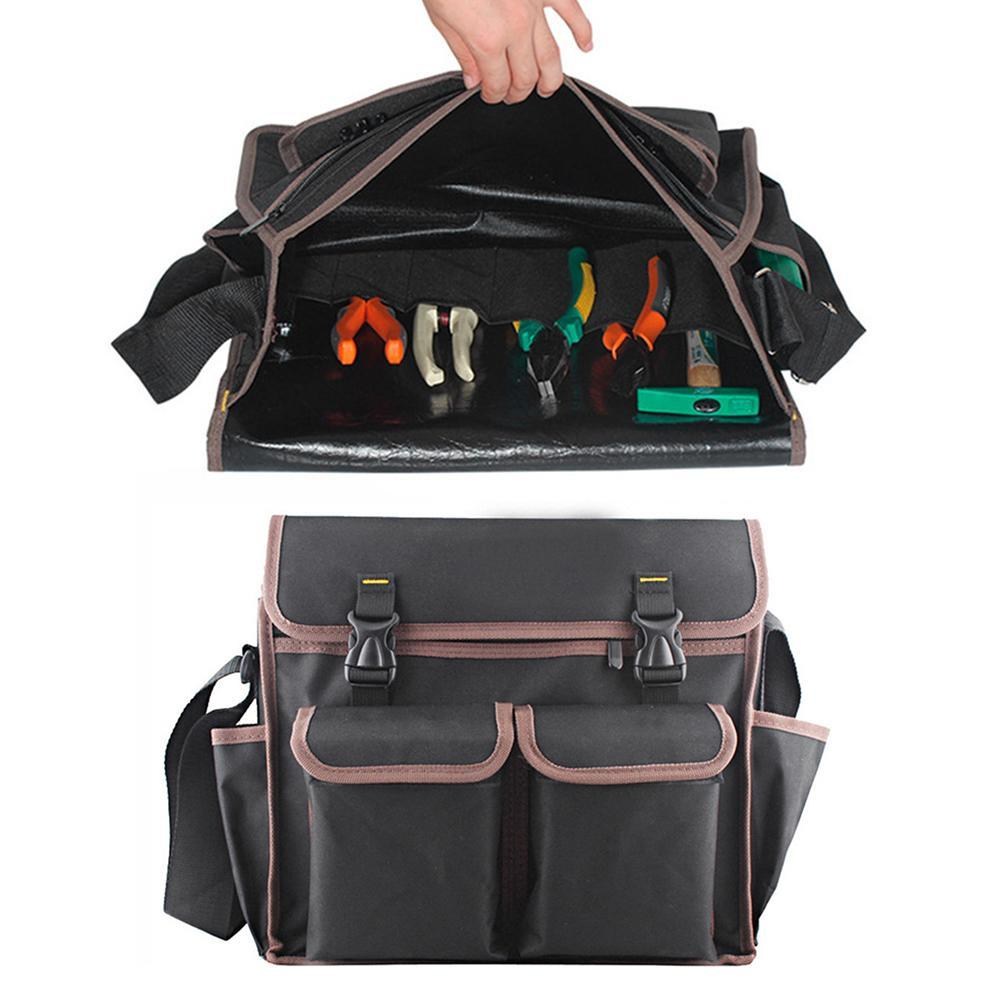 Thicken Oxford Multi Funtional Hardware Tool kit Shoulder Strap Tool Bag Backpack 35*28*10cm Drop Shipping pegasi oxford tool fabric backpack multi function outdoor backpack electricians tool bag black durable