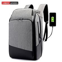 цены MAGIC UNION Men Travel Backpack Large Capacity Male Mochila Back Anti-thief Bag USB Charging 15.6