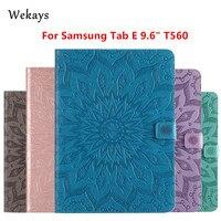 Wekays Para Galaxy Tab E 9.6 T560 Inteligente Caso Estande Couro Fundas Para Coque Samsung Galaxy Tab E 9.6