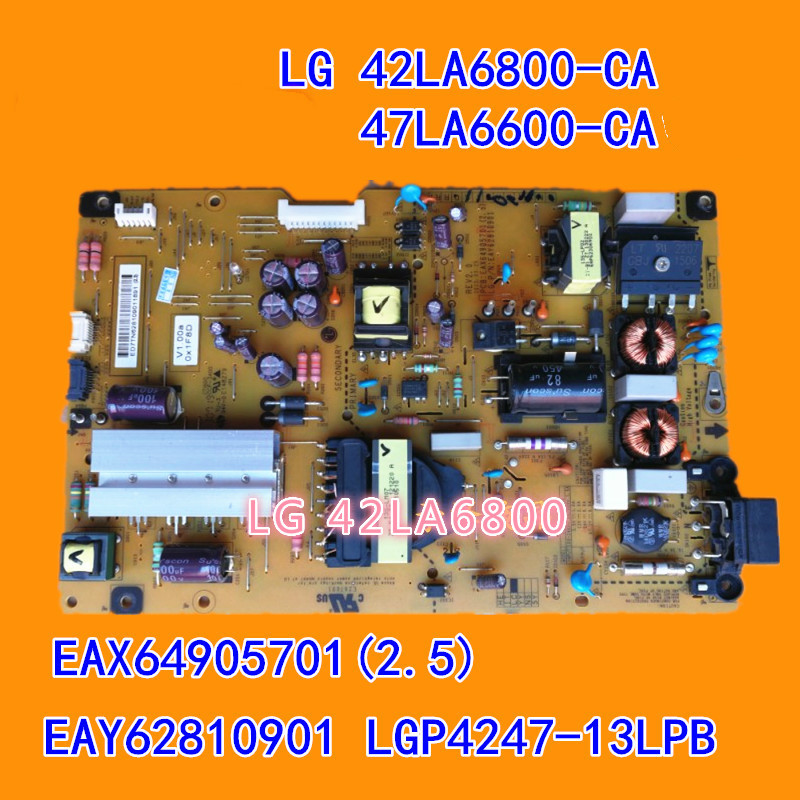 все цены на Original power supply board LG 42LA6800 47LA6800 EAX64905701 42LA6800-CA 47LA6600-CA EAX64905701(2.5) EAY62810901 used board онлайн