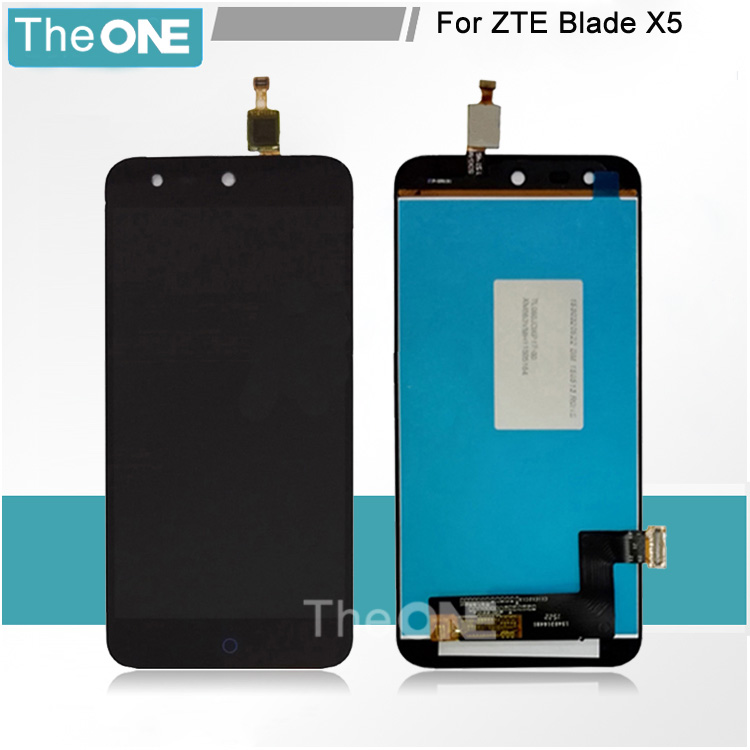 100% de la alta calidad para zte blade x5 lcd reemplazo de la pantalla lcd + pan