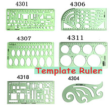 Brand New Green Geometric Template Righello Mapping Drawing Tools Righello adatto per cancelleria scuola studente