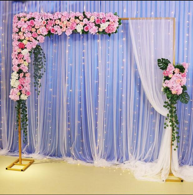 New wedding props background frame telescopic pole stage iron arch frame outdoor wedding decorationNew wedding props background frame telescopic pole stage iron arch frame outdoor wedding decoration