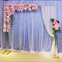New wedding props background frame telescopic pole stage iron arch outdoor decoration