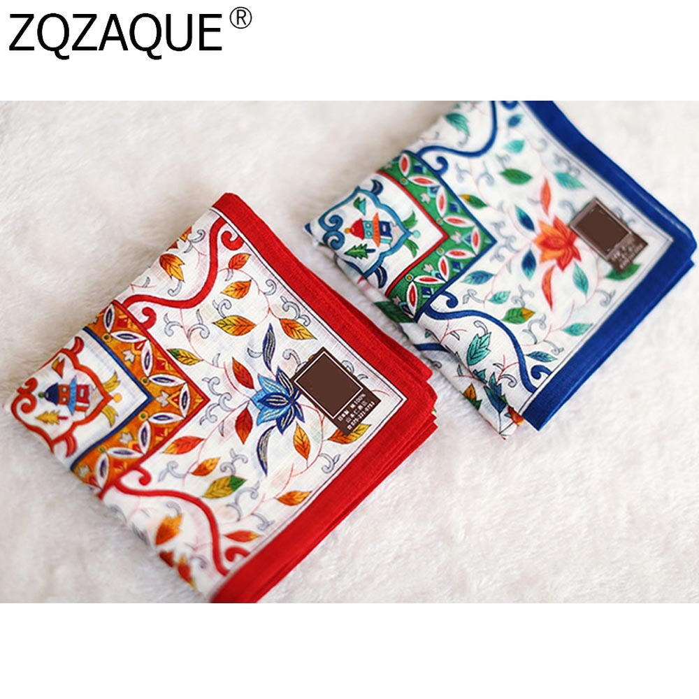 48*48cm Japanese Style Luxury Handkerchief Women's Cotton Kerchiefs Multi-use Square Big Hankies Sweat Absorption New Arrival
