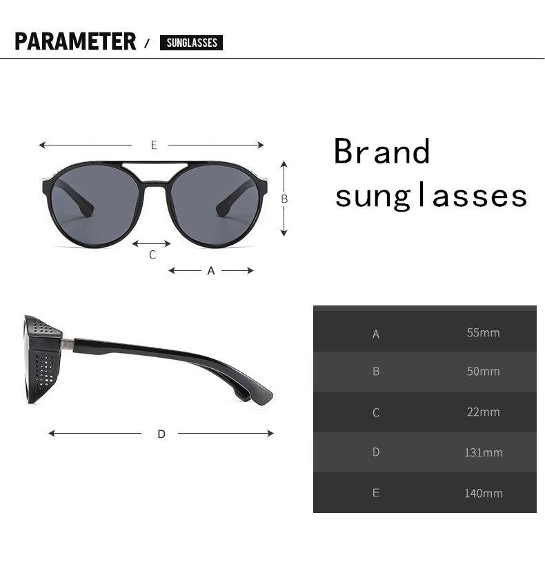Men's sunglasses plastic + metal round frame glasses UV400 fashion ladies sunglasses classic brand driving night vision goggles (13)