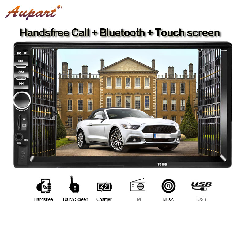 car multimedia 2 Din car radio 2din autoradio auto radios Touch Screen stereo rear view camera Steer wheel controls mirror link-in Car Multimedia Player from Automobiles & Motorcycles