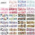 36 diseños de la cubierta completa uñas envuelve Animal / flores mezcladas stickers calcomanías Nail Art transferencia de agua pegatina belleza decoración manicura herramienta BN061-096