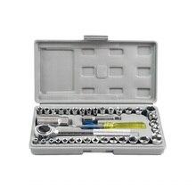 40 шт. набор инструментов для ремонта автомобиля, набор инструментов для разборки, набор гаечных ключей для мотоцикла, наборы ручных инструментов для дома