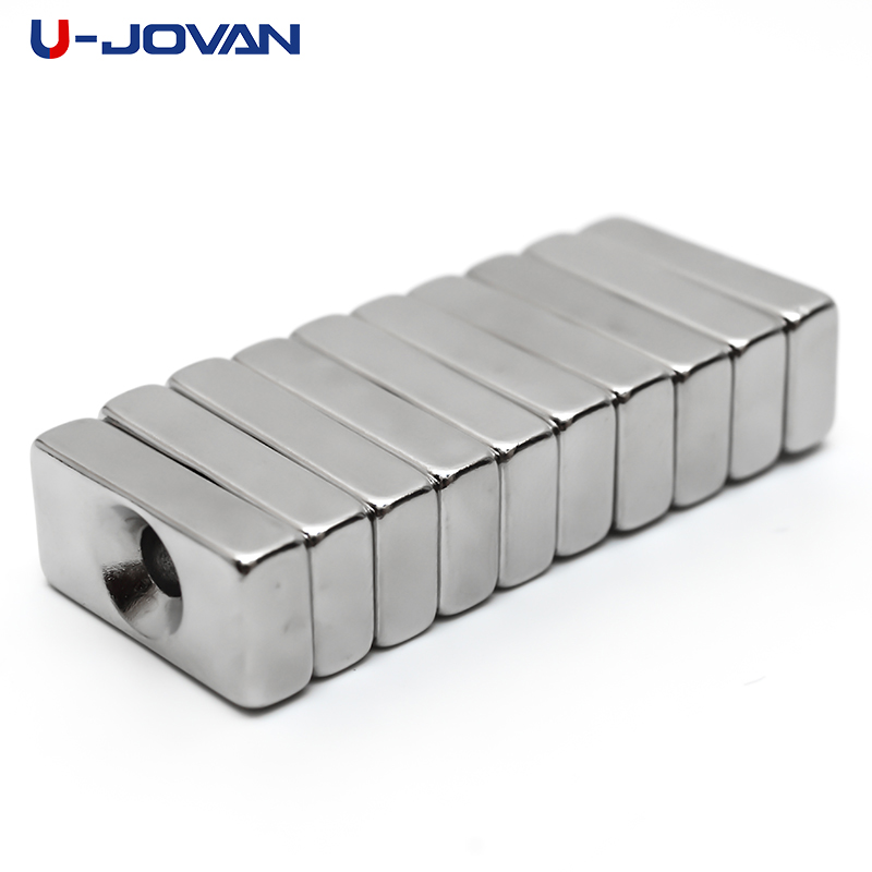 Adroit U-jovan 2pcs/lot 20 X 10 X 5mm Hole 4mm Super Strong Countersunk Magnets Rare Earth Permanent Neodymium Magnet 20*10*5-4