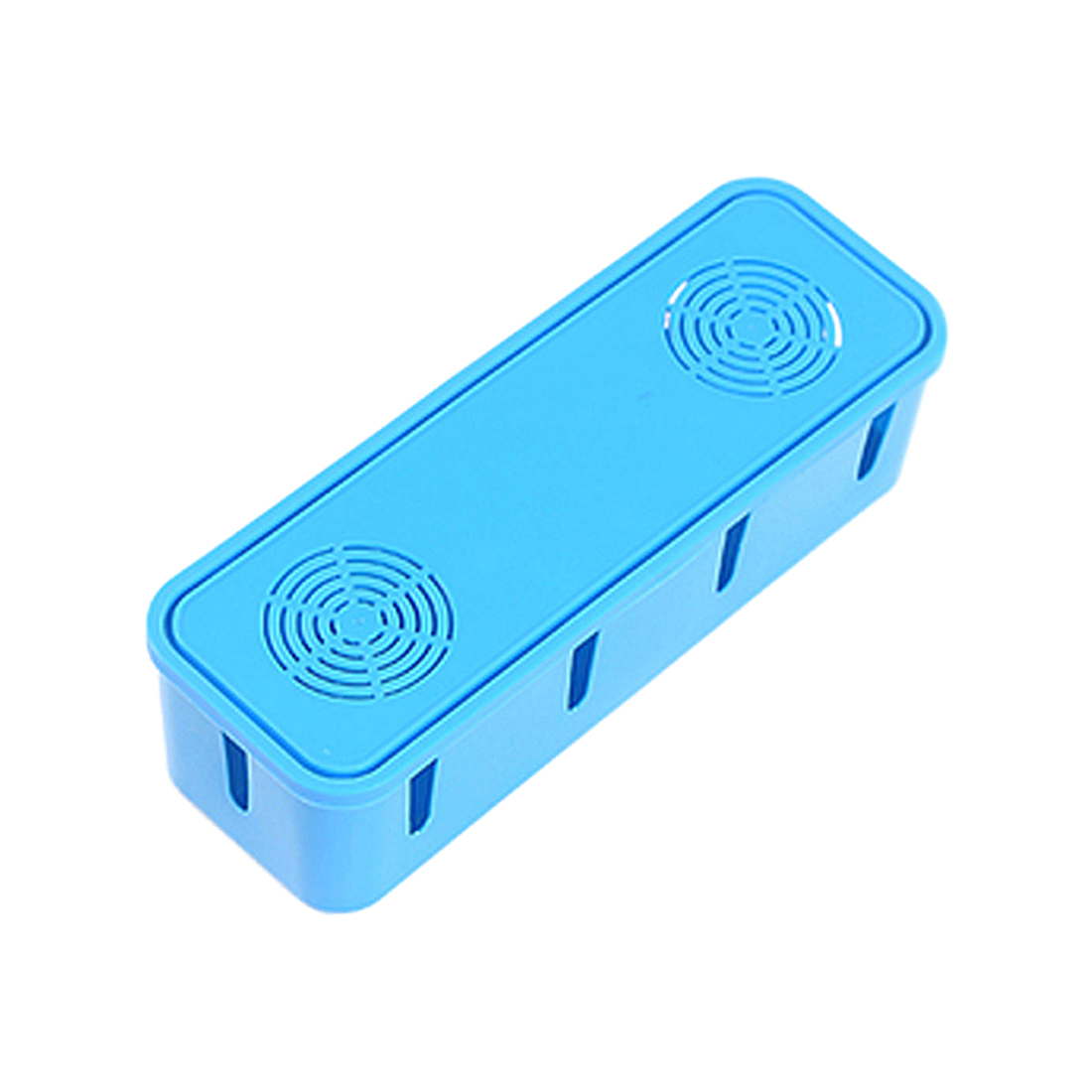 Power Strip Cord Socket Storage Boxes Organizer Safety Socket Outlet Board Container Cables Wire Case Accessories(blue)