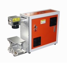 Orange 30w fiber marking machine / laser marking machine portable color fiber marking machine / metal marking free shipping 9mm max tube marking machine sticker 8m