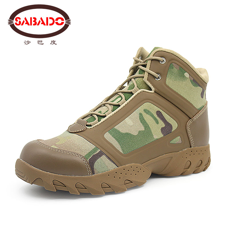 Outdoor Men Tactical Boots For rubber shoe heel Mountain Anti-skid Wear Resistant Military Combat Sport Shoes Hiking Shoes