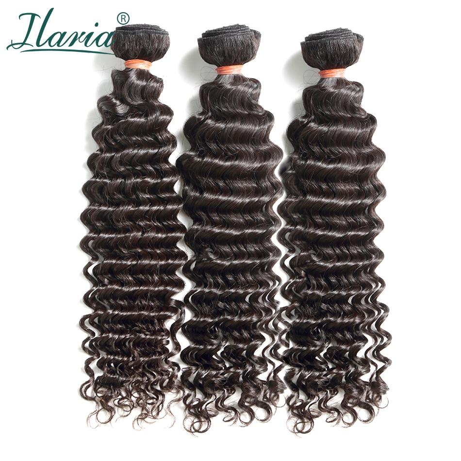 ILARIA HAIR 8A Mink Brazilian Curly Virgin Hair 3 Bundles Deep Wave 10
