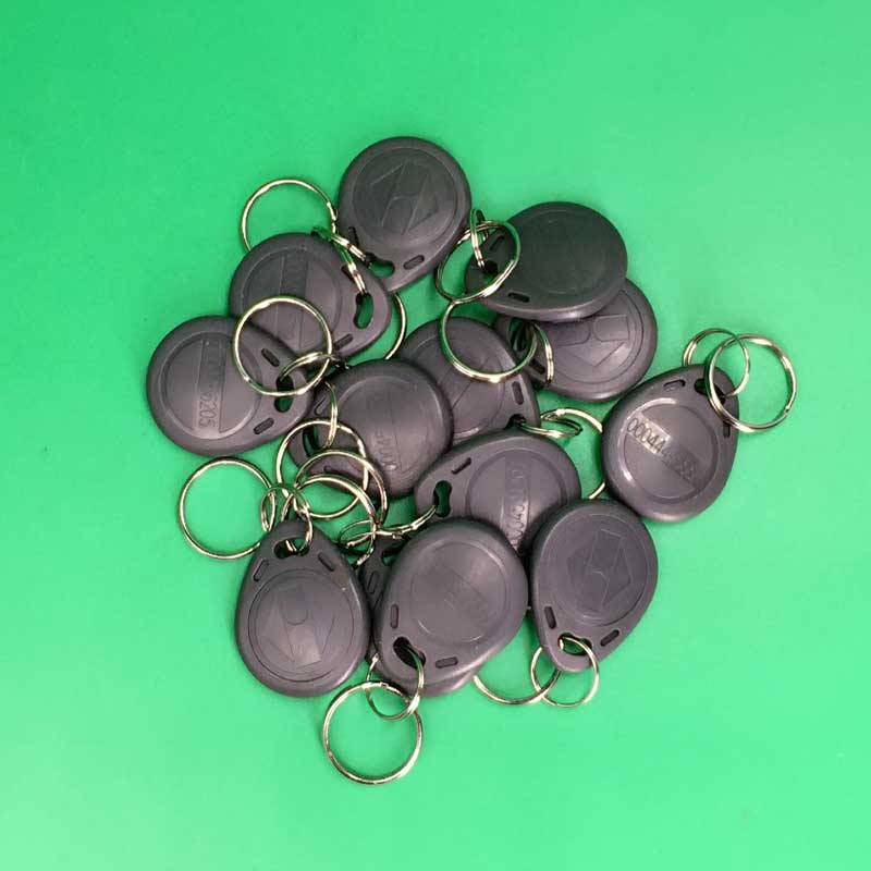 10pcs wholesale price contactless TK4100 rfid keyfob 125khz rfid tag/ keychain Grey Color waterproof contactless proximity tk4100 chip 125khz abs passive rfid waste bin worm tag for waste management