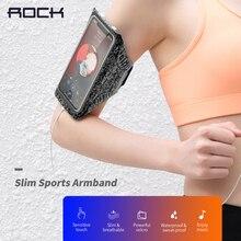 Funda para brazalete deportivo Rock Slim para teléfono móvil, bolsa impermeable para correr de menos de 7 pulgadas para iphone 11 xs samsung s20 huawei p30 pro
