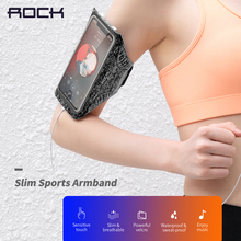 Rock Slim Sports Armband pouch Mobile Phone running waterproof Bag below 7 inch Case For iphone 11 xs samsung s20 huawei p30 pro