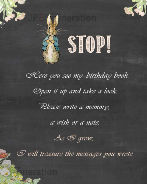Personal Customized Birthday Message Sign Book Stop Here