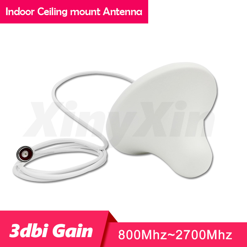 800-2700 Mhz Antenna  2G 3G 4G Antenna Indoor Ceiling Internal  N-male Connector Antenna  With 2m Cable  GSM LTE 1800 Antenna