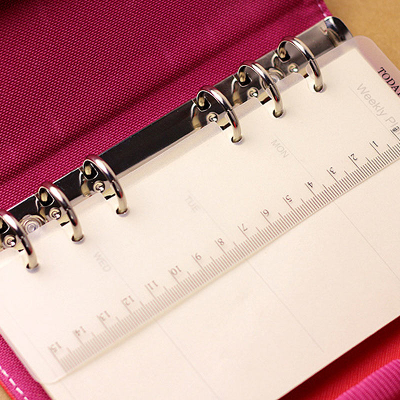 Today Ruler A5 A6 A7 PP Matt Frosted Planner Agenda Dokibook For 6 Holes Loose Leaf Spiral Notebook Organizer