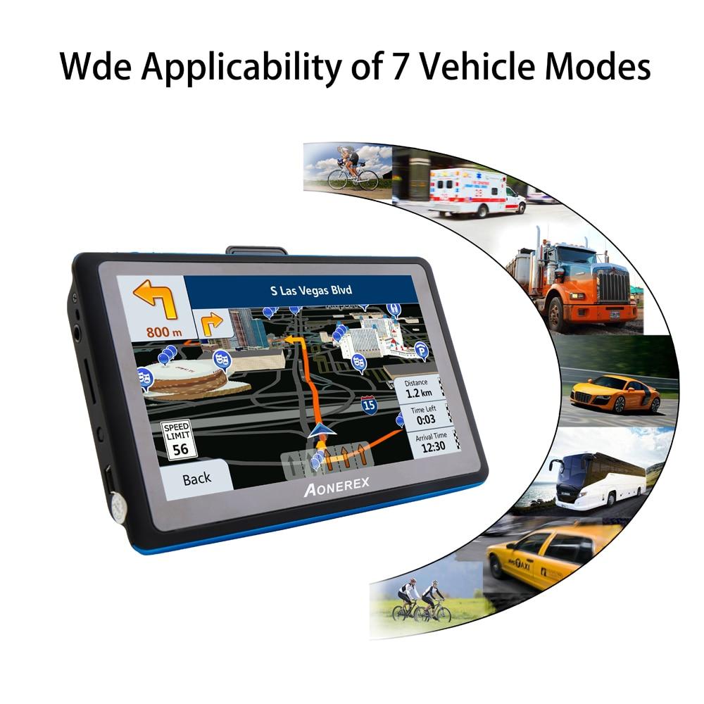 Car GPS Navigator 5-inch LCD screen FM satellite voice