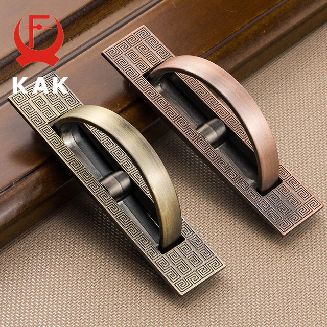 KAK 5pcs/lot Vintage Tatami Hidden Door Handles Zinc Alloy Recessed Flush  Pull Cover Floor