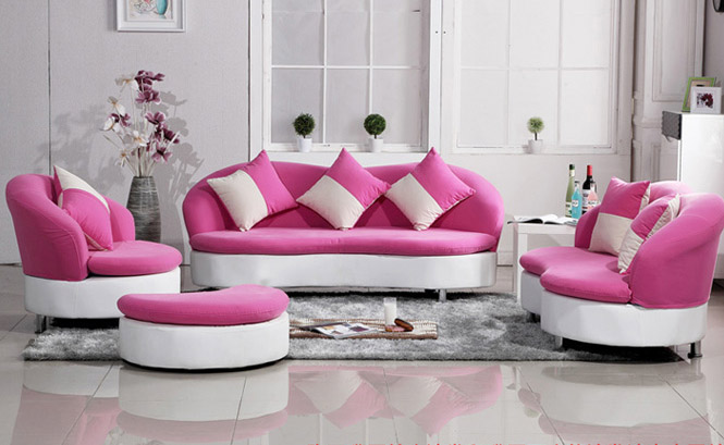 High Quality Pink Living Room Set Design Inspirations