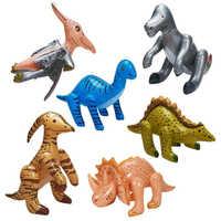 6ピース/セットインフレータブル恐竜のおもちゃ子供のおもちゃを爆破おもちゃ誕生日バルーン装飾パーティー供給クリスマスギフト