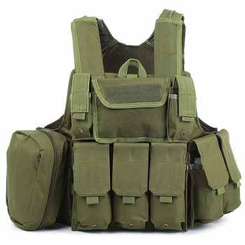Camouflage Hunting Military Tactical Vest Amphibious Battle Combat Airsoft Molle Bullet Assault Plate Carrier Vest 10 Colors - DISCOUNT ITEM  20% OFF All Category
