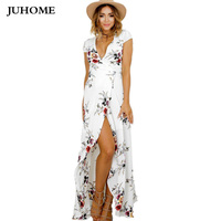 Hot Sale 2017 Summer Women Clothes Big Size Boho Dress Vintage Robe Female High Waist Tunic