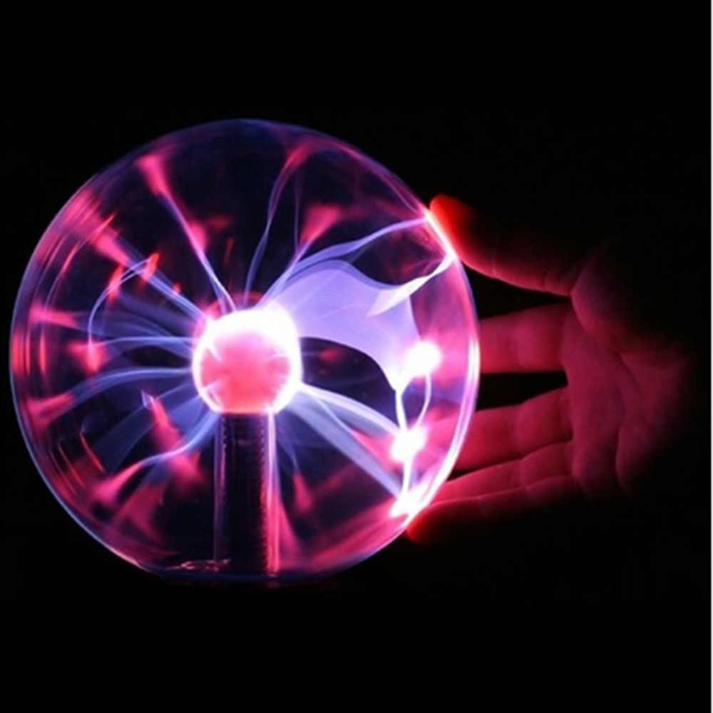 """3 """"USB плазменный шар свет Электростатическая Сфера хрустальная лампа шар Настольный шар свет РОЖДЕСТВО Праздничное оформление"""