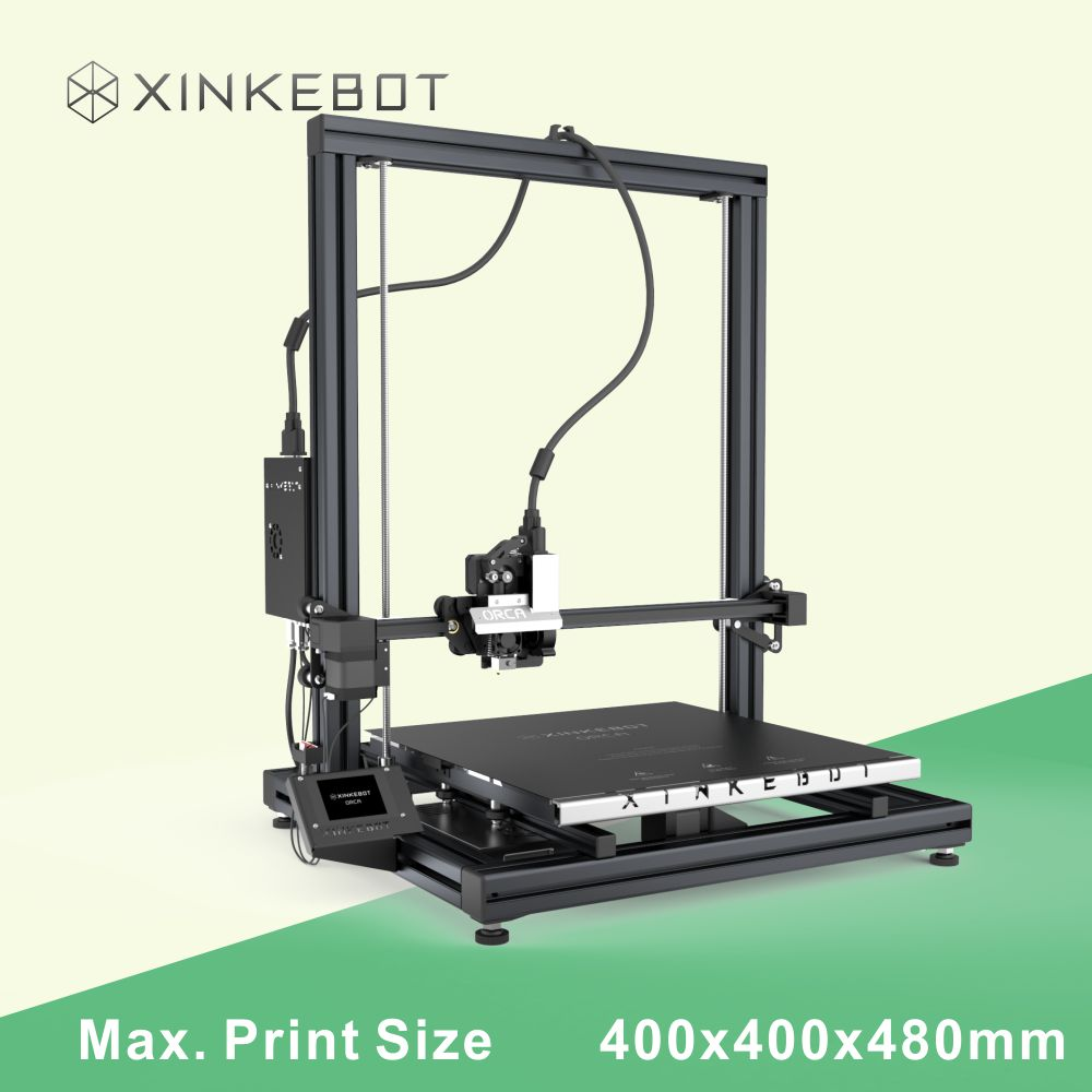 XINKEBOT Up to date Professional 3D Printer Orca2 Cygnus 400 400 500mm Room with 1kg Filament